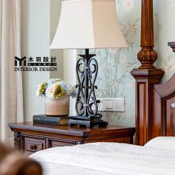 新古典别墅卧室床头灯设计图
