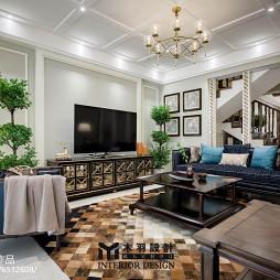 新古典别墅客厅设计效果图