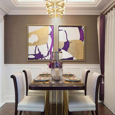 美式样板房餐厅设计图