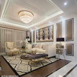美式样板房客厅设计图片