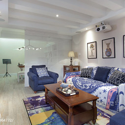 美式清新客厅设计图