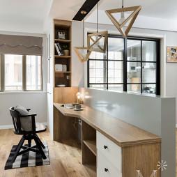 简单北欧风格三居书房设计图片
