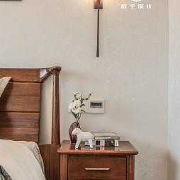 142㎡现代美式卧室床头灯设计图