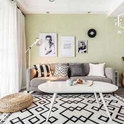 北欧风90㎡客厅沙发设计图