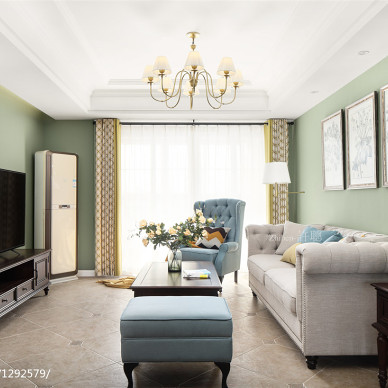 汇景豪苑美式客厅设计图