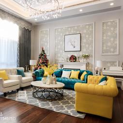美式别墅客厅背景设计图