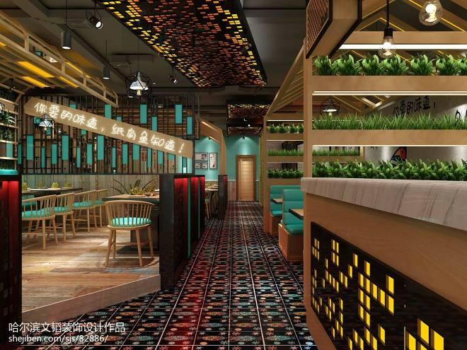 烤鱼店设计,餐饮空间_3072816