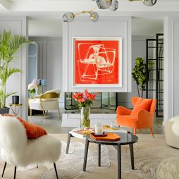 法式别墅会客厅设计图