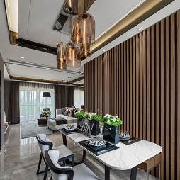 现代客厅餐厅实景图