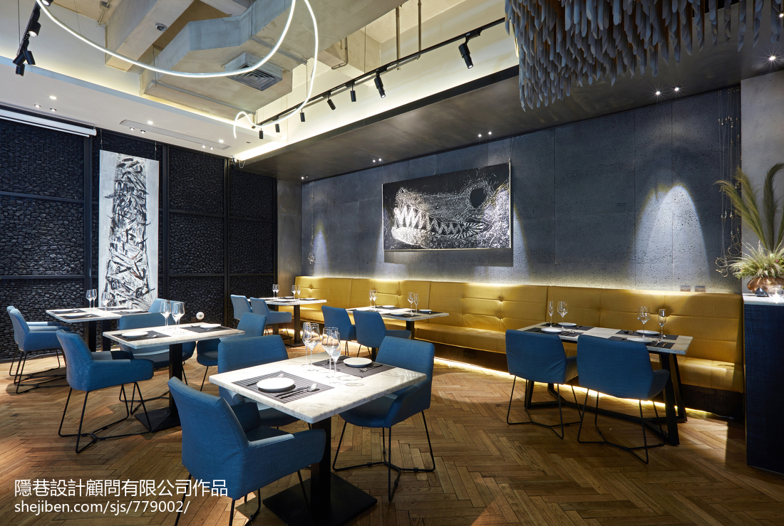 混搭餐饮空间餐厅桌椅设计图