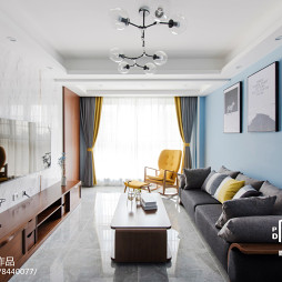 北欧风格客厅设计实景图