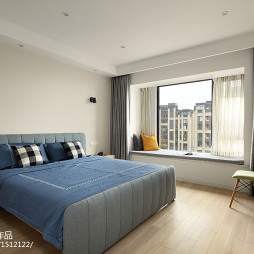 140平方北欧风卧室飘窗设计图