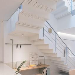 白色北欧楼梯设计图