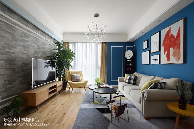 120平方混搭客厅设计图片