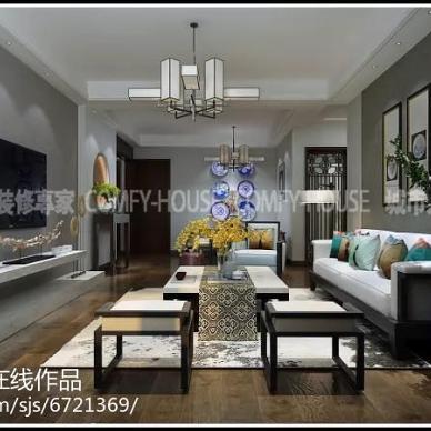 设计|温馨雅致,清远静美——金域东山160㎡现代中式_3080290