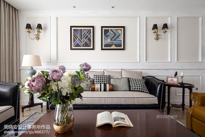 混搭三居客厅背景画设计图