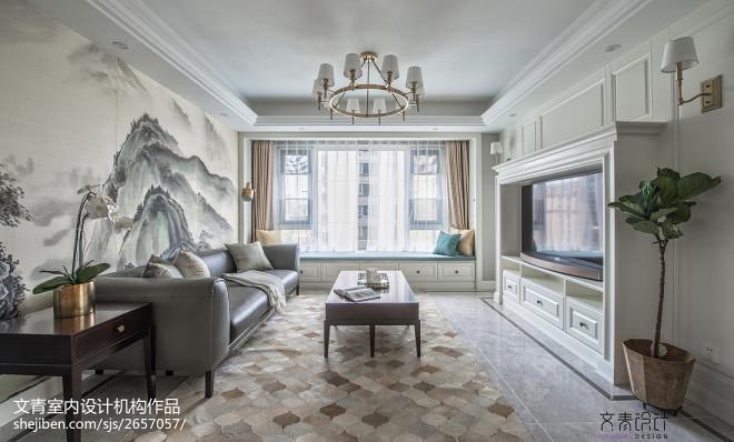 美式156方客厅设计