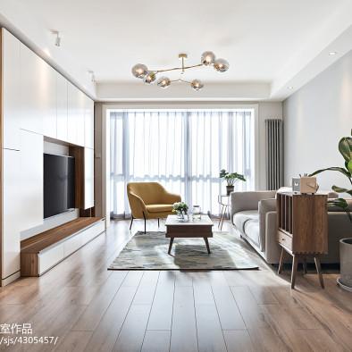 纯净北欧客厅设计图