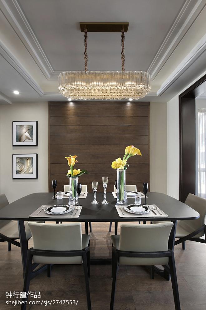 奢华现代四居餐厅设计图