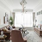 清新北欧三居客厅实景图片