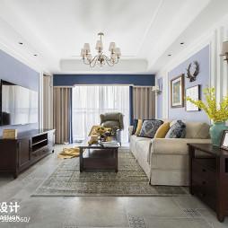 120平简美客厅设计图片
