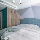 北欧复式卧室实景图片