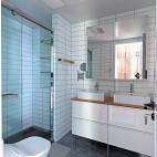 北欧复式卫浴洗手台设计图片