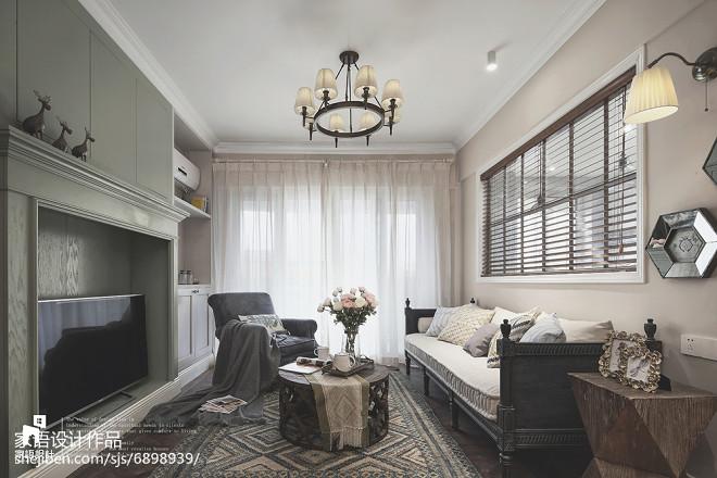 灰色系美式三居客厅设计图片