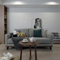 北欧风格二居客厅沙发设计图