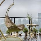 现代都市风阳台实景图片