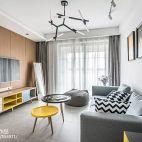 88平二居客厅设计图