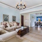 淡雅美式二居客厅吊灯设计图