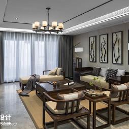 220平新中式客厅设计图片