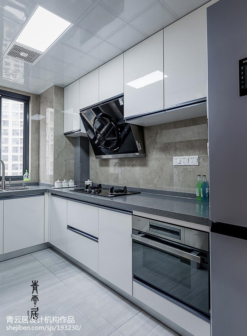 简单现代三居厨房设计图