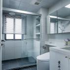 简单现代三居卫浴设计实景图