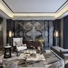 万科玖西堂叠拼样板间客厅设计图