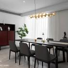 现代两居餐厅设计实景图