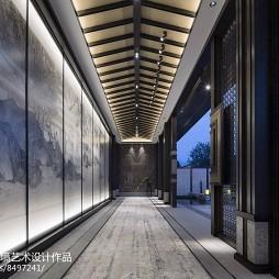 建发山外山售楼处走廊设计图