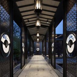 建发山外山售楼处走廊设计图片