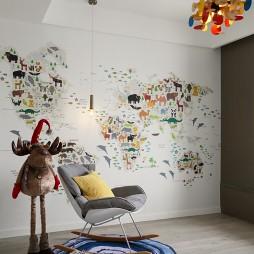 120平方现代儿童房设计图