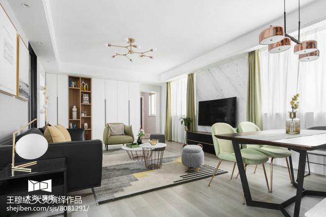 简约风格三居客厅设计实景图