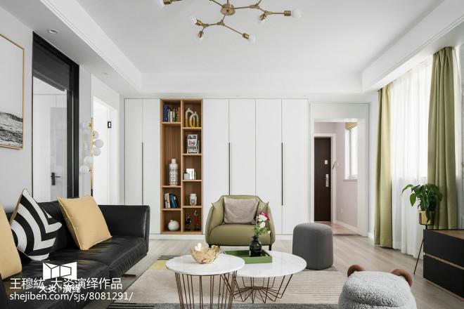 简约风格三居客厅设计实景图片