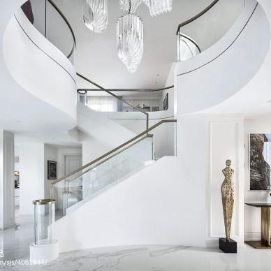 现代别墅楼梯设计实景图