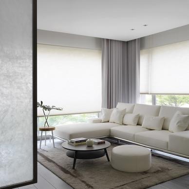 灰色系现代客厅实景图
