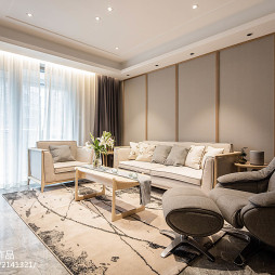 中式三居客厅设计实景图