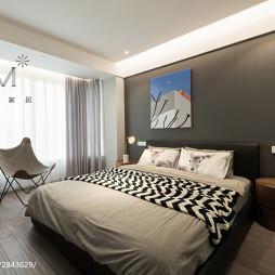 现代简约三居主卧室设计图