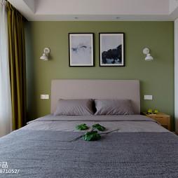 北欧风卧室床头画设计图
