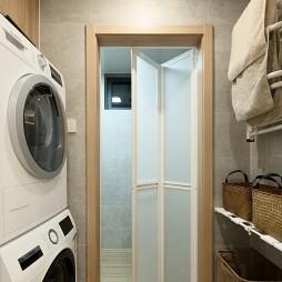 日式三居洗衣机摆放图片