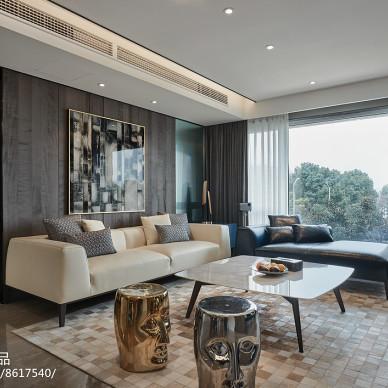 现代三居客厅背景画设计图片