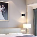 现代高级灰卧室壁灯设计图